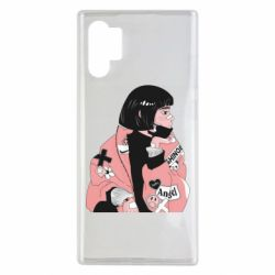 Чехол для Samsung Note 10 Plus Girl with a square