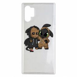 Чехол для Samsung Note 10 Plus Groot And Toothless