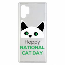 Чехол для Samsung Note 10 Plus Happy National Cat Day