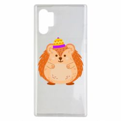Чохол для Samsung Note 10 Plus Little hedgehog in a hat