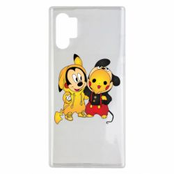 Чехол для Samsung Note 10 Plus Mickey and Pikachu