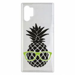 Чехол для Samsung Note 10 Plus Pineapple with glasses