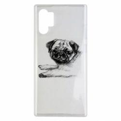 Чохол для Samsung Note 10 Plus Pug drawing