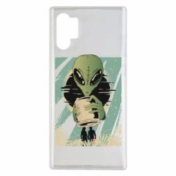 Чохол для Samsung Note 10 Plus Alien with a can