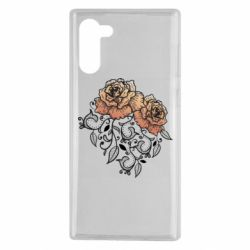 Чохол для Samsung Note 10 Roses with patterns
