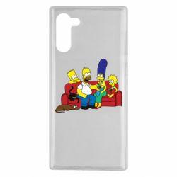 Чехол для Samsung Note 10 Simpsons At Home