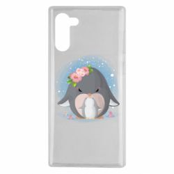 Чехол для Samsung Note 10 Two cute penguins