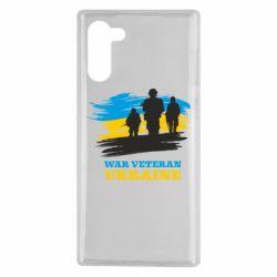 Чохол для Samsung Note 10 War veteran оf Ukraine