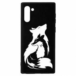 Чехол для Samsung Note 10 Wolf And Fox