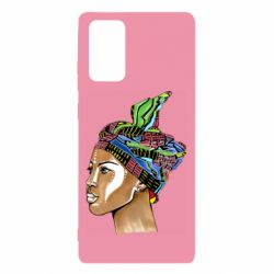 Чохол для Samsung Note 20 African girl in a color scarf