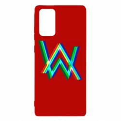 Чехол для Samsung Note 20 Alan Walker multicolored logo