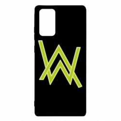 Чехол для Samsung Note 20 Alan Walker neon logo