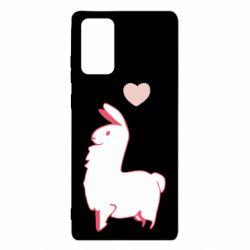 Чохол для Samsung Note 20 Alpaca with a heart