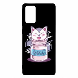Чехол для Samsung Note 20 AntiDepressant Cat