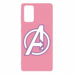 Чехол для Samsung Note 20 Avengers and simple logo