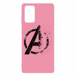 Чехол для Samsung Note 20 Avengers logotype destruction