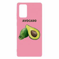 Чехол для Samsung Note 20 Avocado watercolor