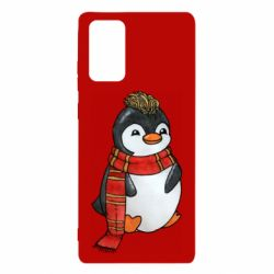Чохол для Samsung Note 20 Baby penguin with a scarf
