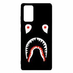 Чехол для Samsung Note 20 Bape shark logo