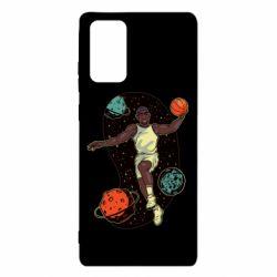 Чехол для Samsung Note 20 Basketball player and space