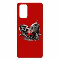 Чехол для Samsung Note 20 Batman and Catwoman Kiss