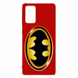 Чохол для Samsung Note 20 Batman logo Gold