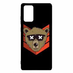Чехол для Samsung Note 20 Bear with glasses
