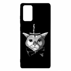 Чохол для Samsung Note 20 Black and white cat intellectual