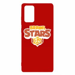Чехол для Samsung Note 20 Brawl Stars logo orang and yellow