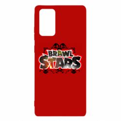 Чехол для Samsung Note 20 Brawl stars logo red pattern