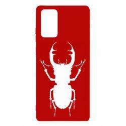 Чехол для Samsung Note 20 Bugs silhouette