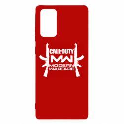 Чехол для Samsung Note 20 Call of debt MW logo and Kalashnikov