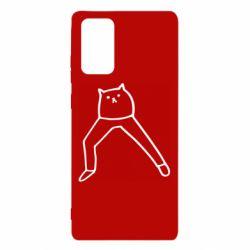 Чохол для Samsung Note 20 Cat in pants