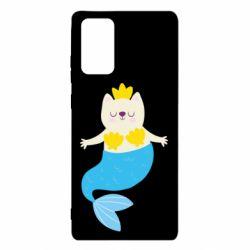 Чехол для Samsung Note 20 Cat-mermaid
