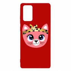 Чехол для Samsung Note 20 Cat pink