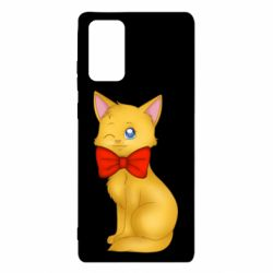 Чохол для Samsung Note 20 Cat with a bow