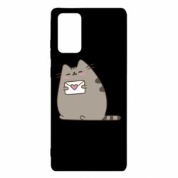 Чохол для Samsung Note 20 Cat with a letter