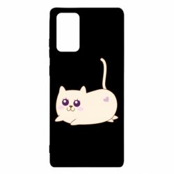 Чехол для Samsung Note 20 Cat with a smile