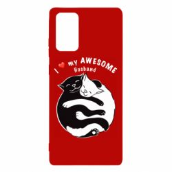 Чехол для Samsung Note 20 Cats and love