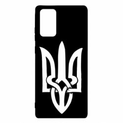 Чехол для Samsung Note 20 Coat of arms of Ukraine torn inside