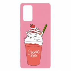Чохол для Samsung Note 20 Cocktail cat and strawberry