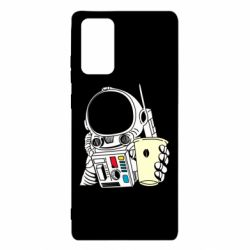 Чехол для Samsung Note 20 Cosmonaut with a coffee