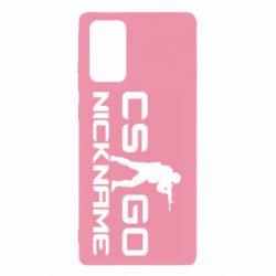 Чехол для Samsung Note 20 Counter-Strike nickname