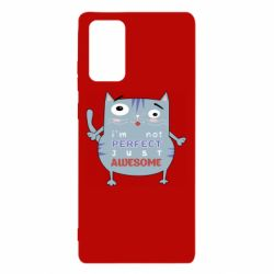 Чехол для Samsung Note 20 Cute cat and text