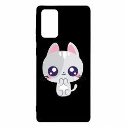 Чохол для Samsung Note 20 Cute cat with big eyes