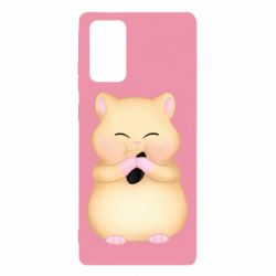Чохол для Samsung Note 20 Cute hamster with sunflower seed