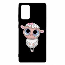 Чехол для Samsung Note 20 Cute lamb with big eyes