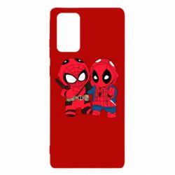 Чехол для Samsung Note 20 Дэдпул и Человек паук