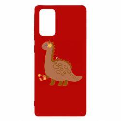 Чехол для Samsung Note 20 Dinosaur in sock