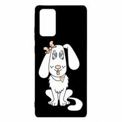 Чехол для Samsung Note 20 Dog with a bow
